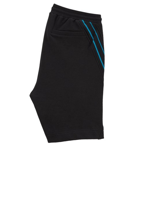 Hugo Boss - Drawstring shorts in French terry with striped inserts - 3