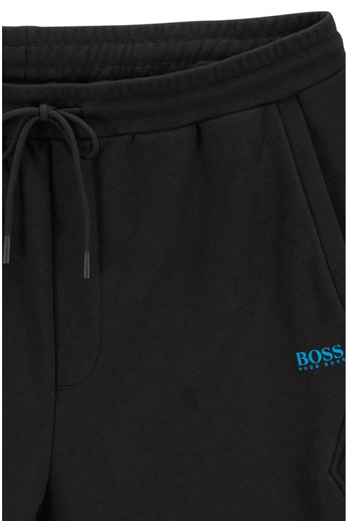 Hugo Boss - Drawstring shorts in French terry with striped inserts - 4