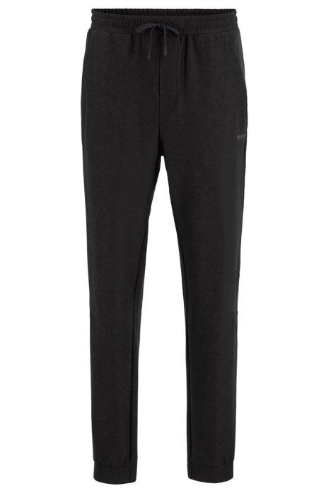Slim-Fit Hose aus elastischem Jersey mit S.Café®-Fasern , Schwarz