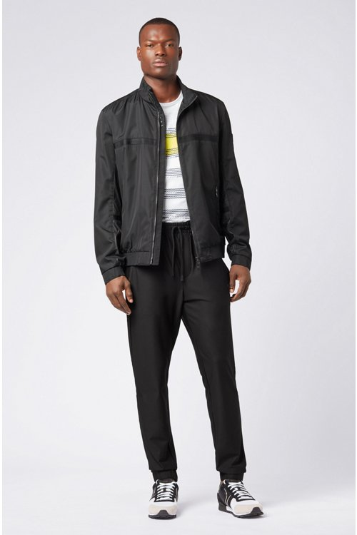 Hugo Boss - Slim-fit jersey trousers in stretch fabric with S.Café® - 2
