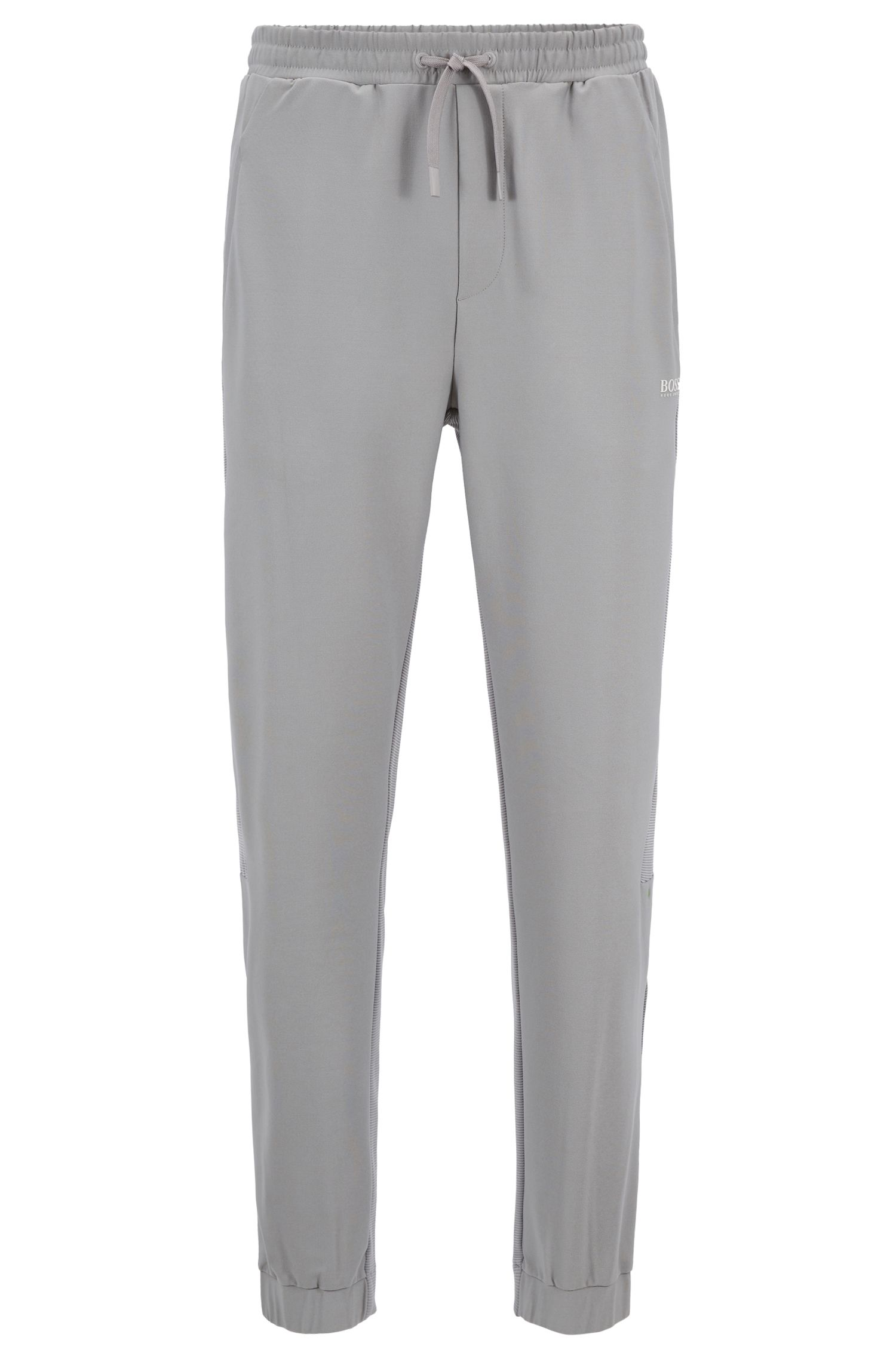 Slim-Fit Hose aus elastischem Jersey mit S.Café®-Fasern , Grau