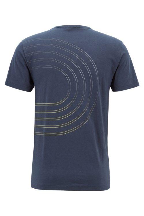 Hugo Boss - Camiseta de punto de algodón con ilustración de logo en colores - 3