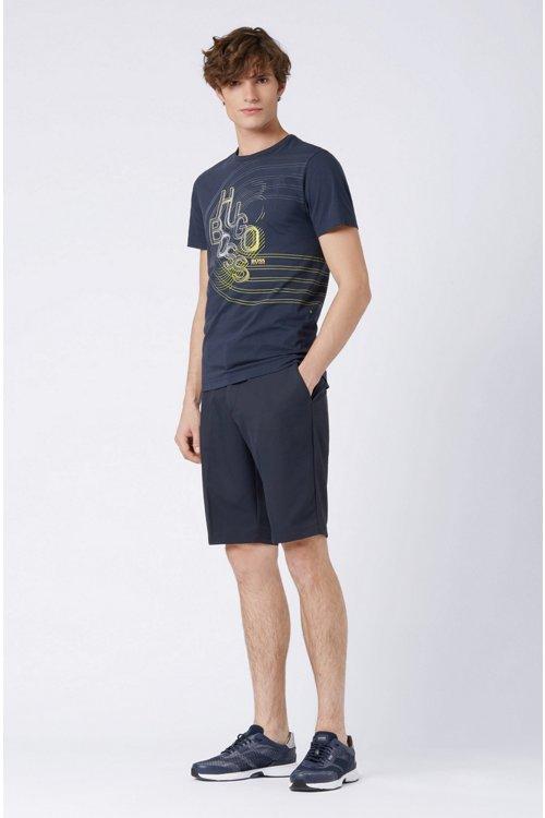 Hugo Boss - Camiseta de punto de algodón con ilustración de logo en colores - 2