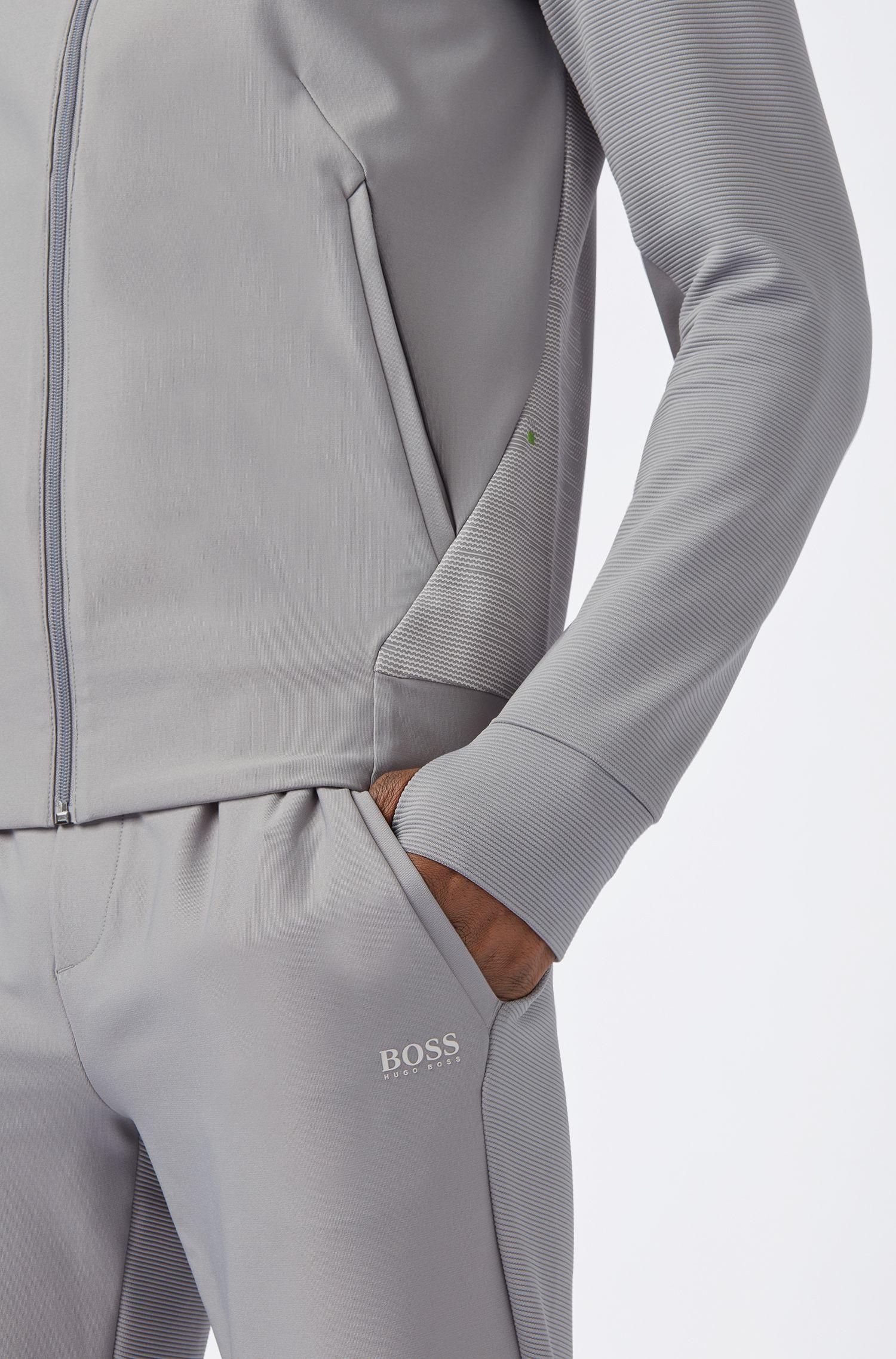 Sweatjacke aus Stretch-Gewebe mit S.Café®-Fasern, Grau