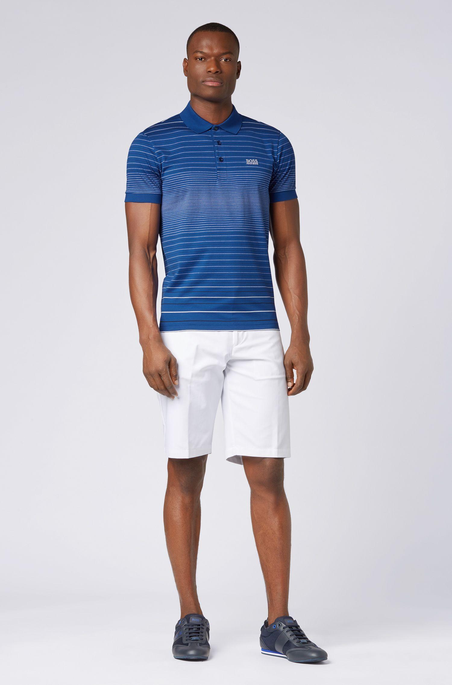 Polo Regular Fit en coton mercerisé, Bleu vif