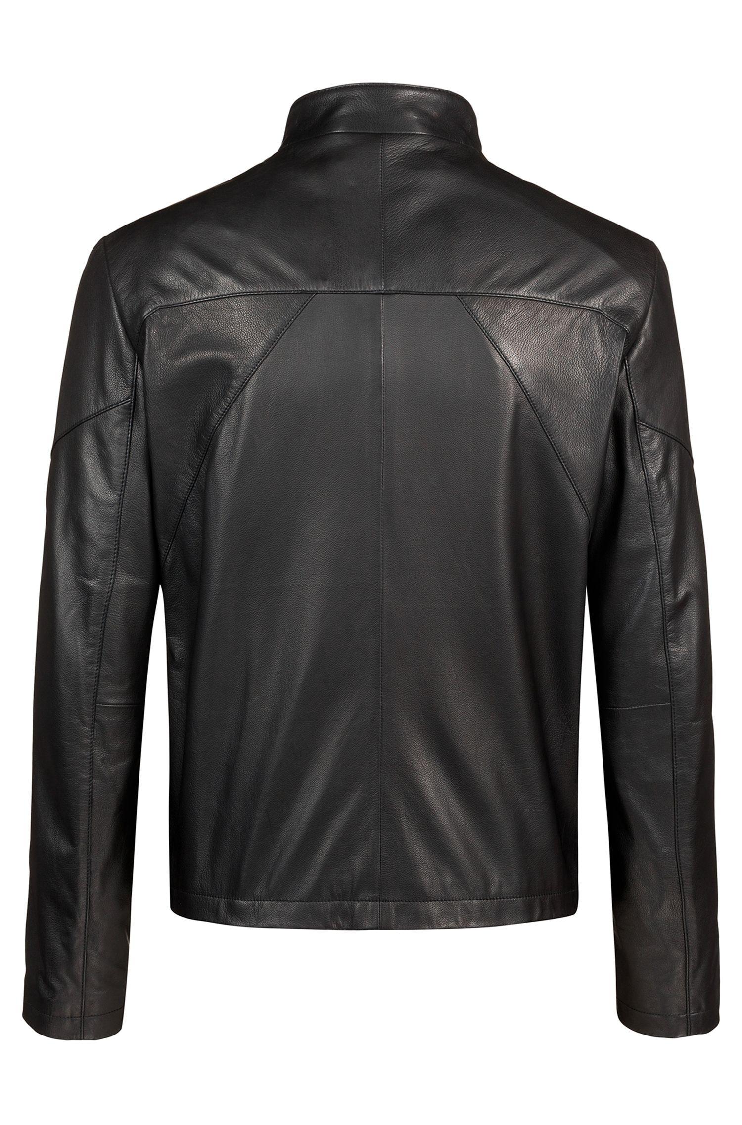 Hugo Boss - Cazadora biker slim fit en piel de napa - 4
