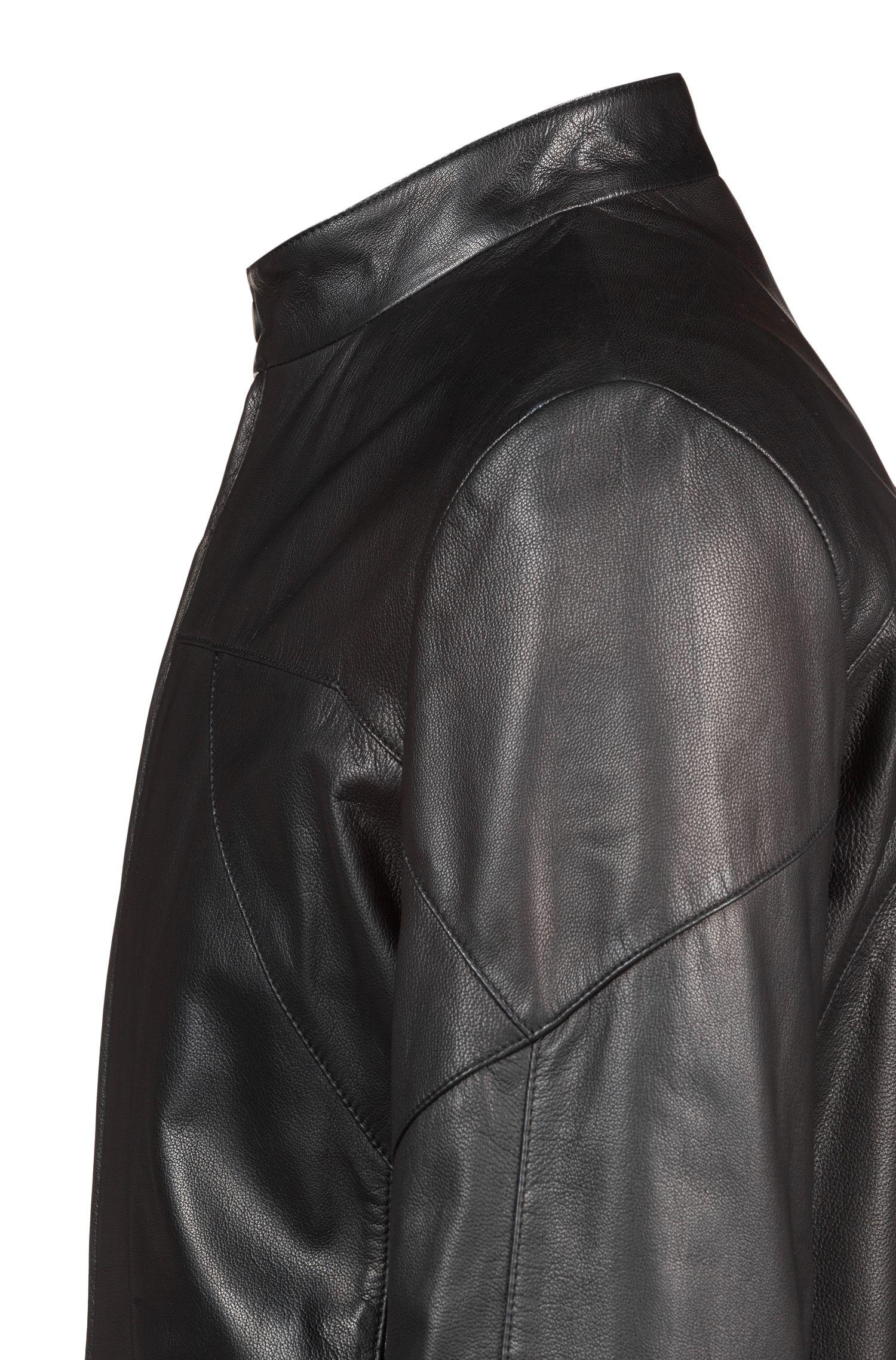 Hugo Boss - Cazadora biker slim fit en piel de napa - 5