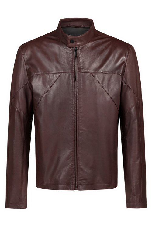Hugo Boss - Slim-fit biker jacket in nappa leather - 1