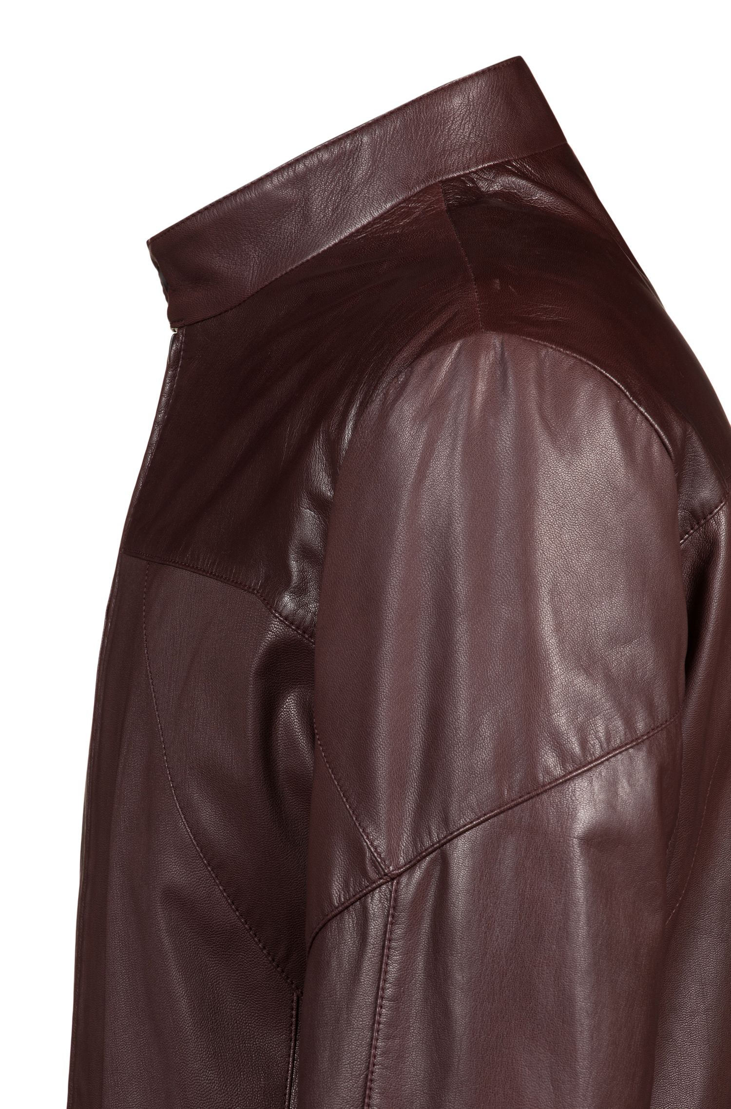 Hugo Boss - Slim-fit biker jacket in nappa leather - 5