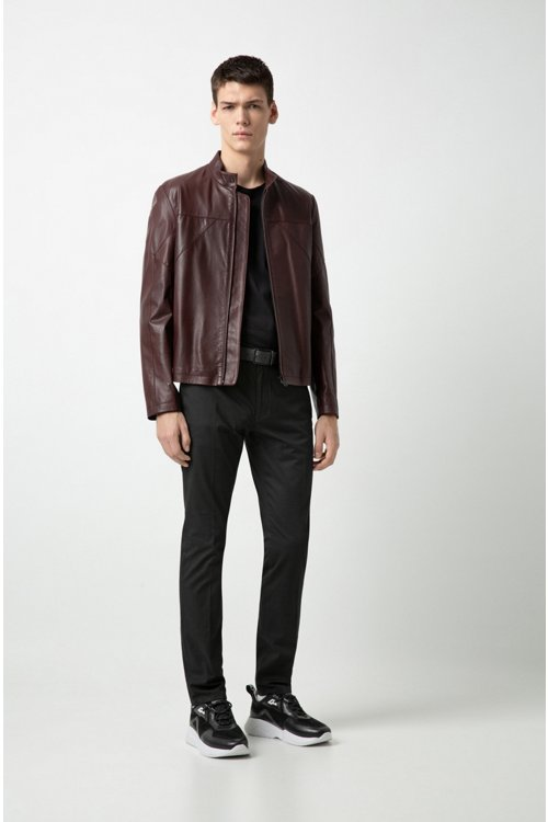 Hugo Boss - Slim-fit biker jacket in nappa leather - 2