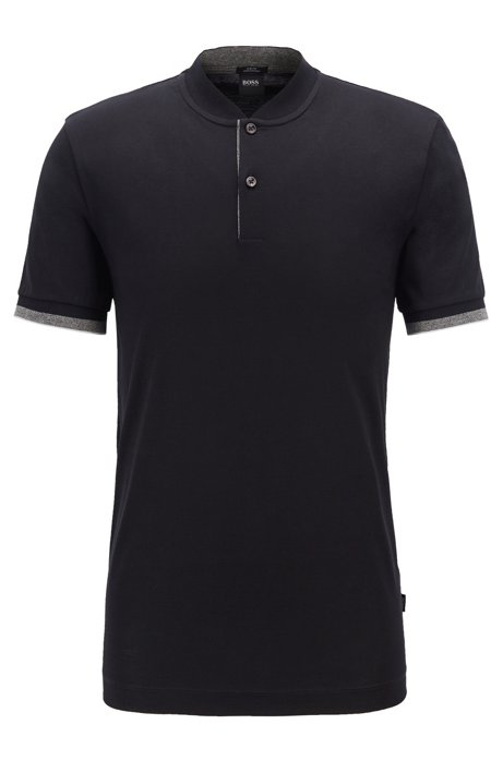 92f7834e BOSS - Slim-fit polo shirt in double-mercerised cotton