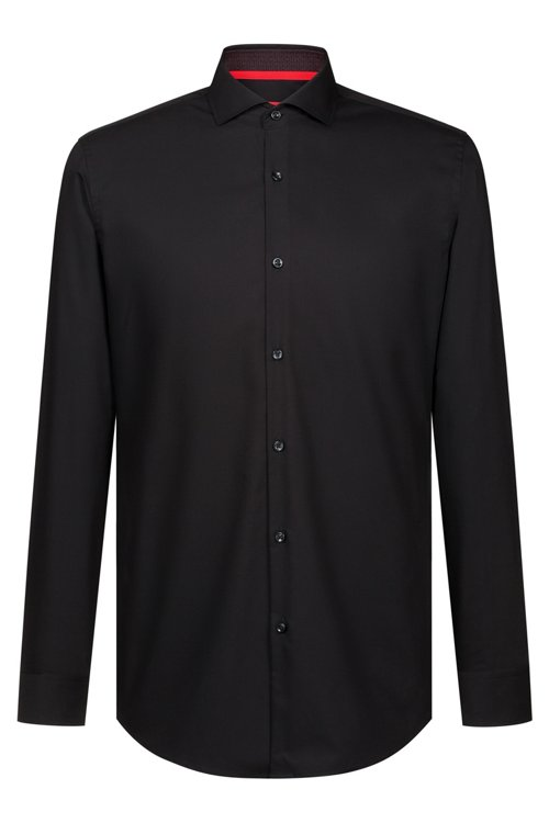 Hugo Boss - Slim-fit business shirt in cotton poplin - 1