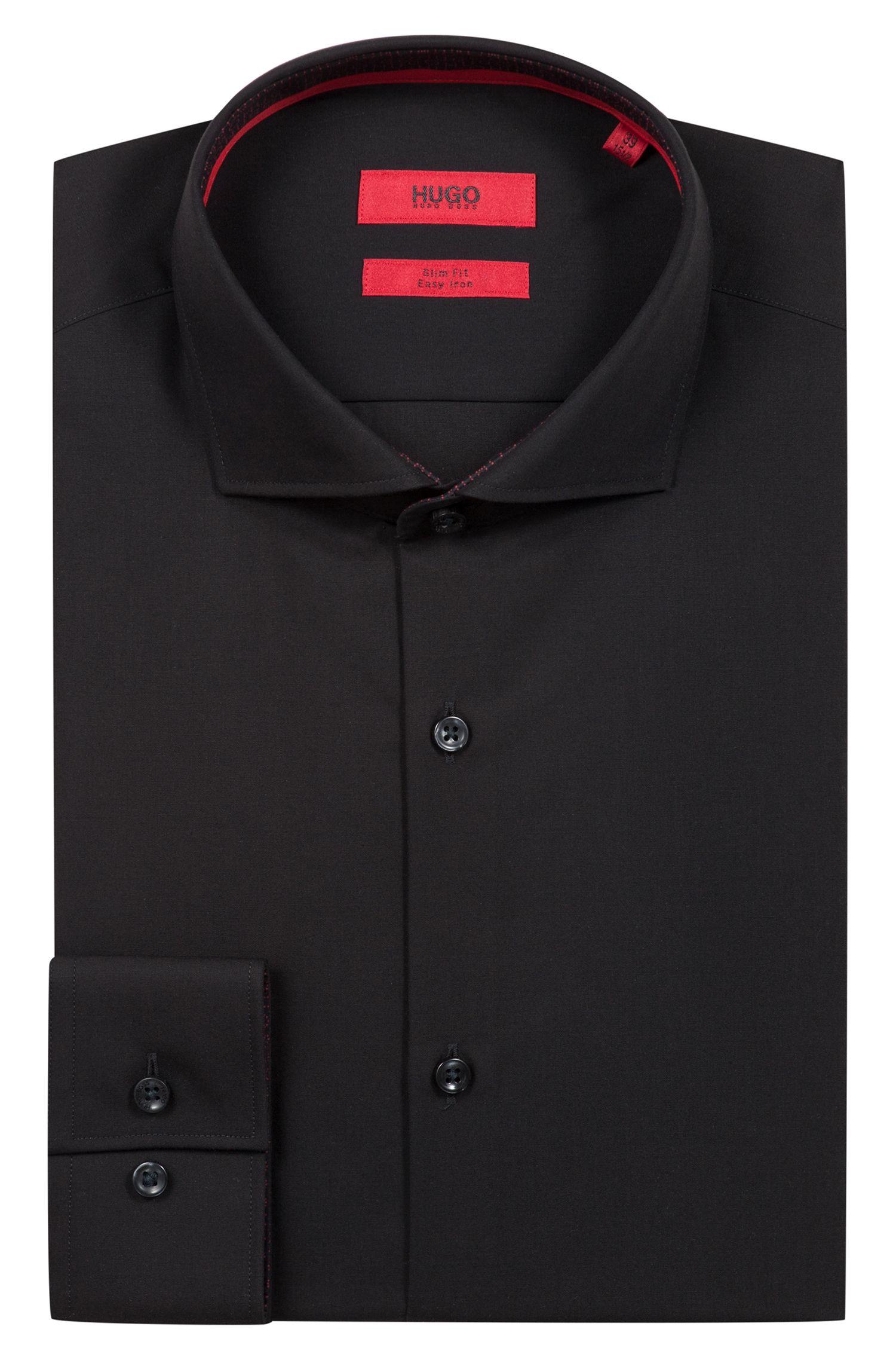 Hugo Boss - Camisa business slim fit en popelín de algodón - 5