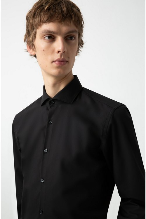 Hugo Boss - Slim-fit business shirt in cotton poplin - 3