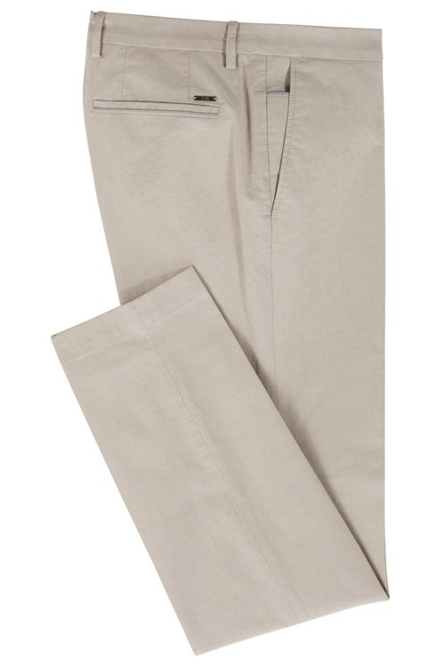 Hugo Boss - Extra-slim-fit trousers in melange stretch cotton - 3