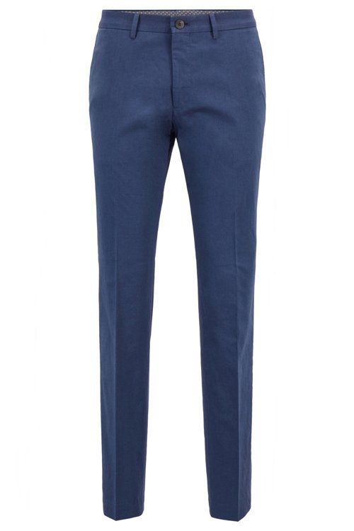 Hugo Boss - Extra-slim-fit trousers in melange stretch cotton - 1