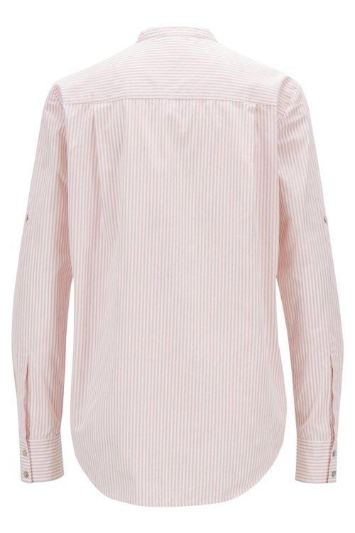 Hugo Boss - Blusa relaxed fit en algodón a rayas con cuello mao - 3