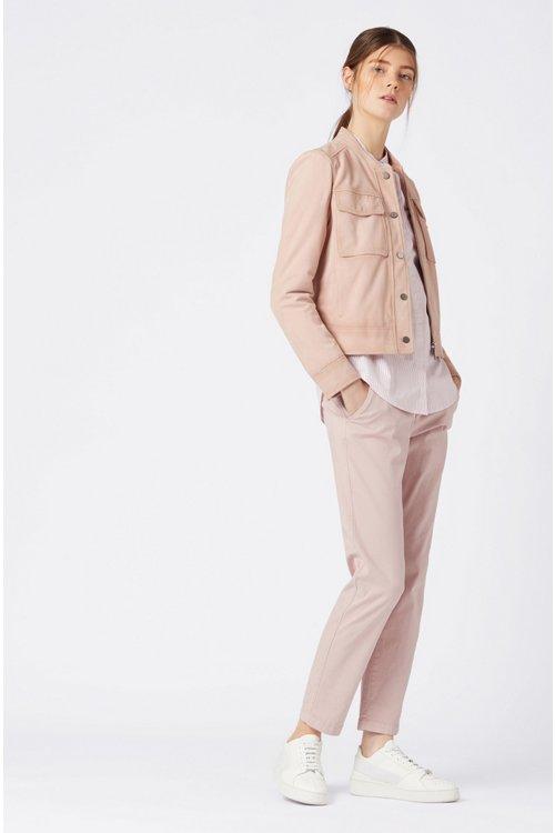 Hugo Boss - Blusa relaxed fit en algodón a rayas con cuello mao - 2