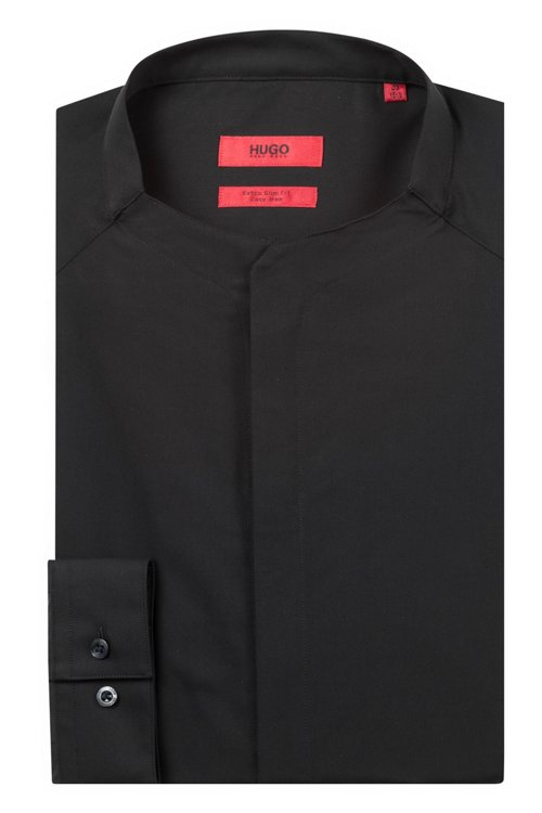 Hugo Boss - Camisa extra slim fit en popelín de algodón elástico - 5