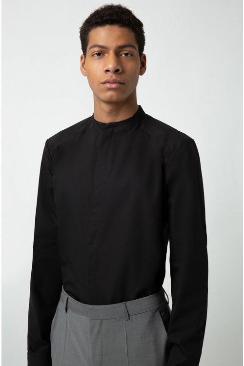 Hugo Boss - Camisa extra slim fit en popelín de algodón elástico - 3