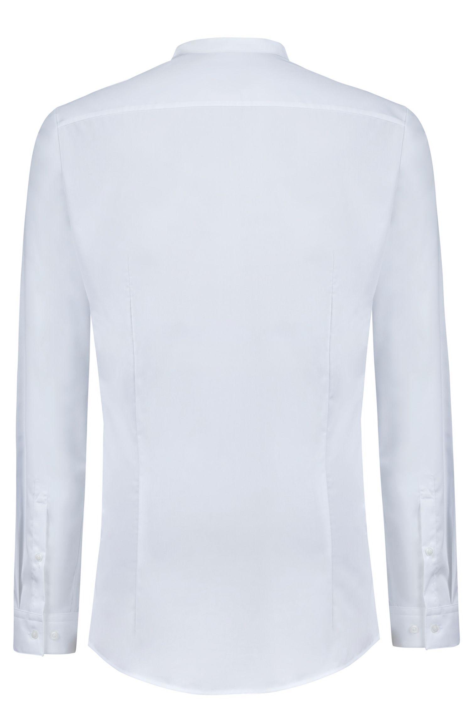 Extra-slim-fit shirt in cotton poplin, White