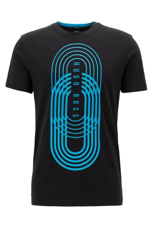 Hugo Boss - Camiseta con estampado gráfico de punto ecológico - 1