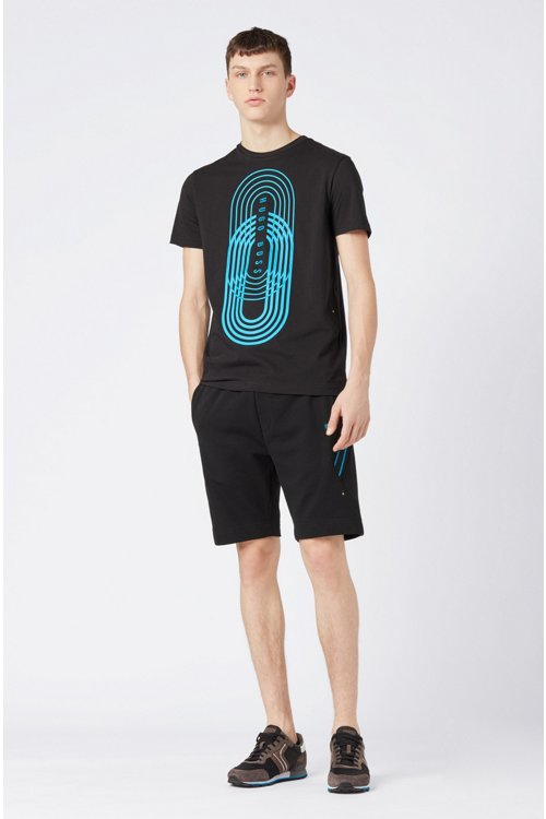 Hugo Boss - Camiseta con estampado gráfico de punto ecológico - 2