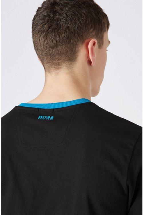 Hugo Boss - Camiseta con estampado gráfico de punto ecológico - 4