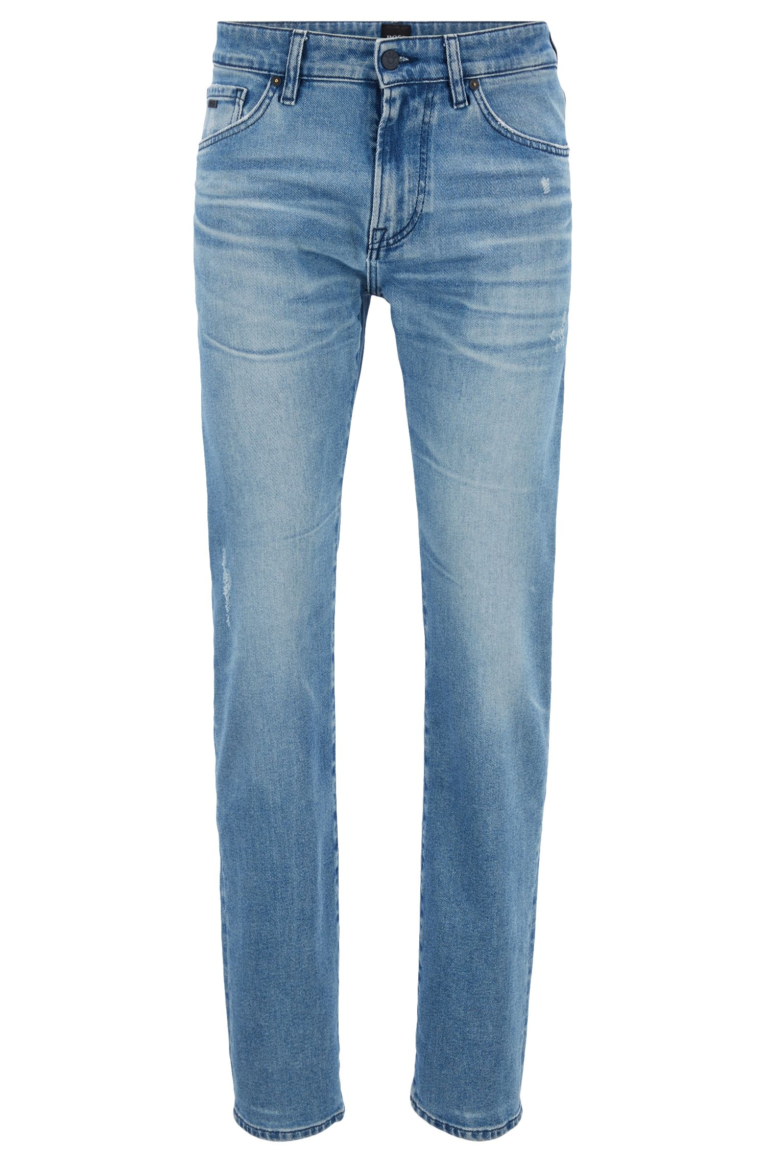 Jean Regular Fit en denim stretch respectueux de l'environnement, Bleu