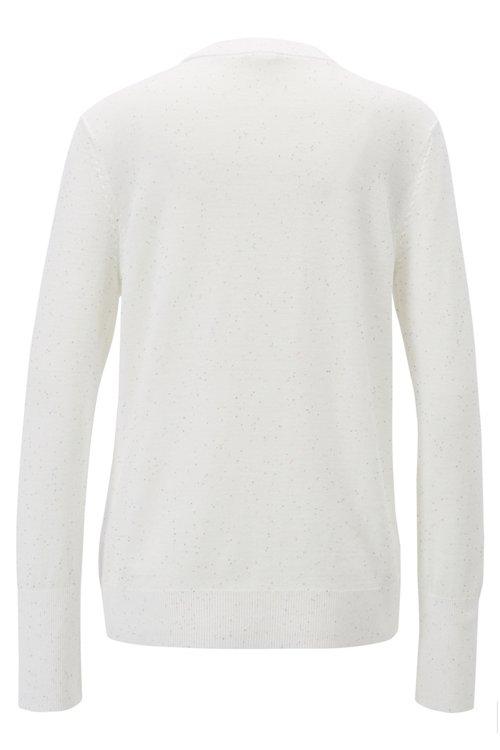 Hugo Boss - Pullover aus Baumwolle mit kleinen Pailletten - 3