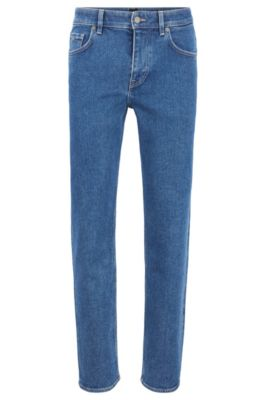 Relaxed-fit jeans in een duurzame peper-en-zout-wassing, Donkerblauw