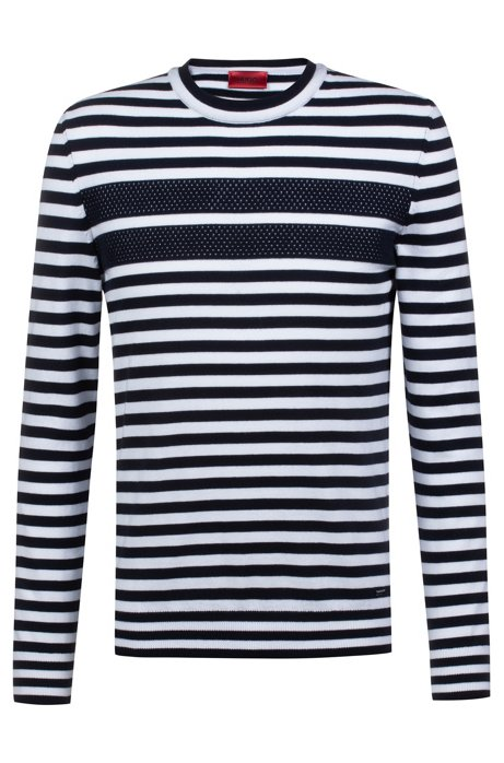 bdf55ee5a Regular-fit long-sleeved T-shirt in striped cotton, Patterned