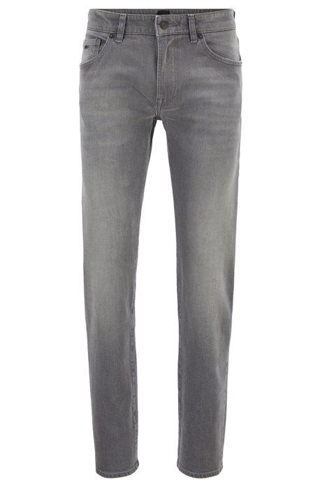 Regular-Fit Jeans aus Stretch-Denim, Grau