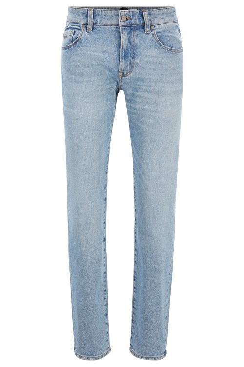 Hugo Boss - Regular-Fit Jeans aus Used-Denim - 1
