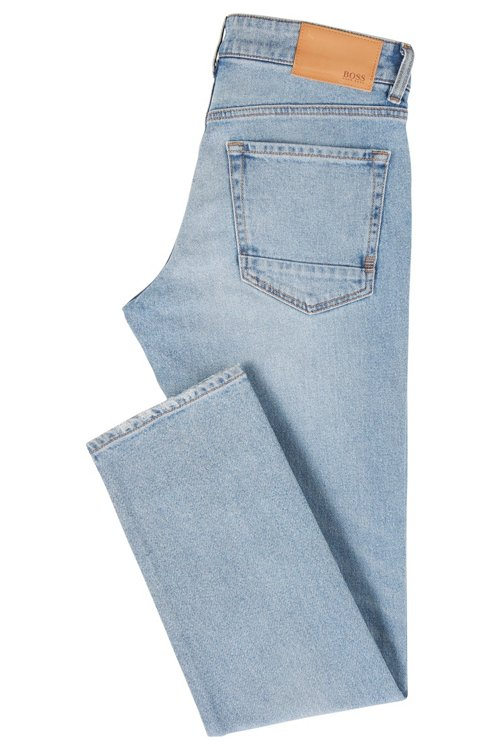 Hugo Boss - Regular-Fit Jeans aus Used-Denim - 3