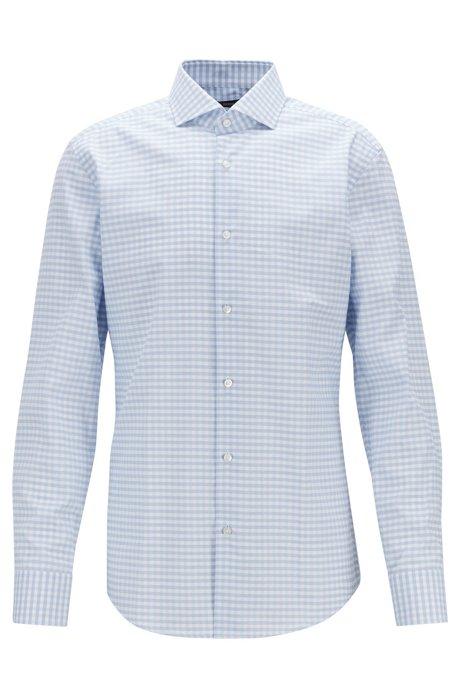 Slim-Fit Hemd mit Vichy-Karo und Coolest-Comfort-Finish, Blau