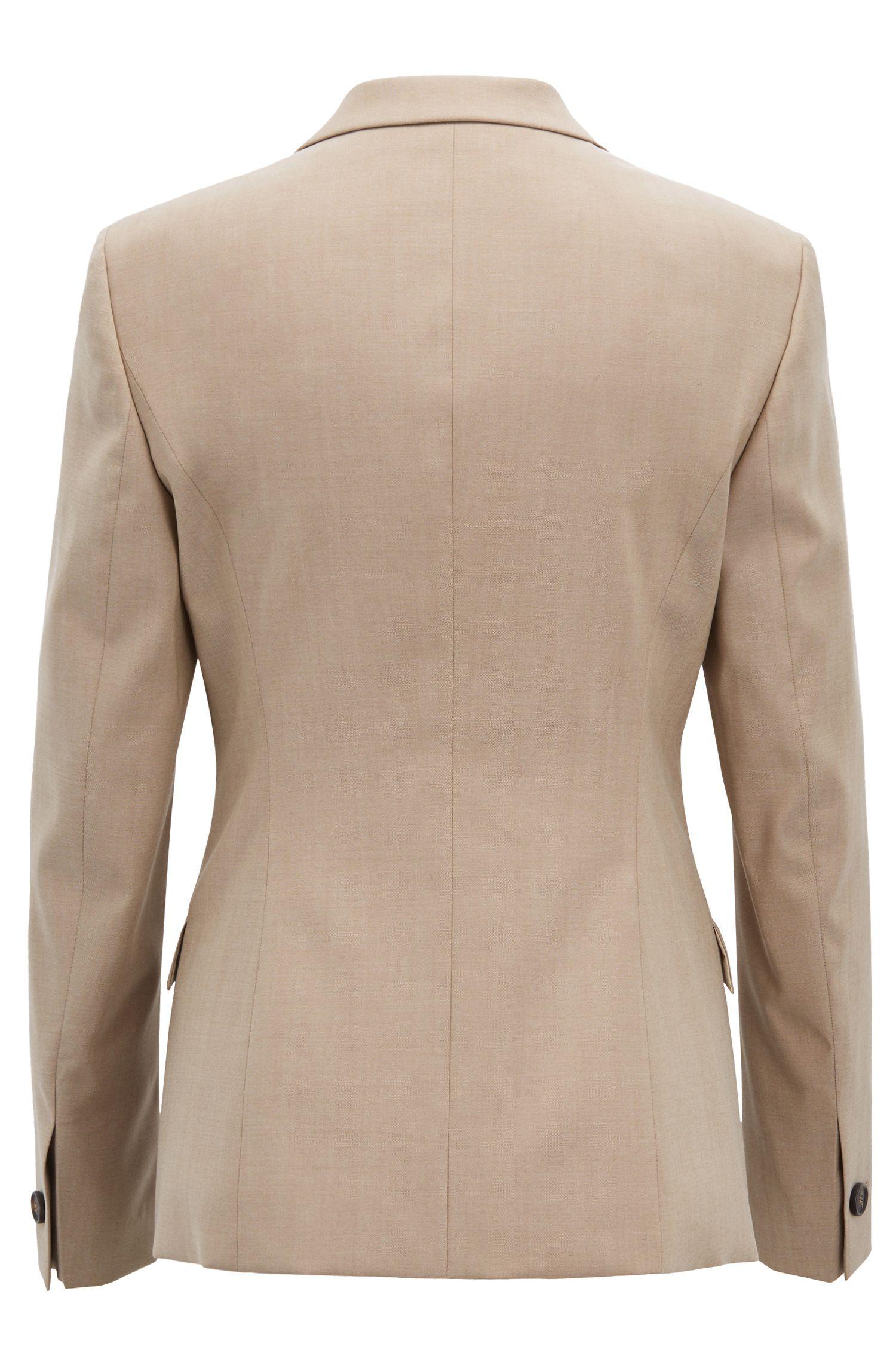 Hugo Boss - Chaqueta regular fit en lana virgen con textura de piel de tiburón - 6