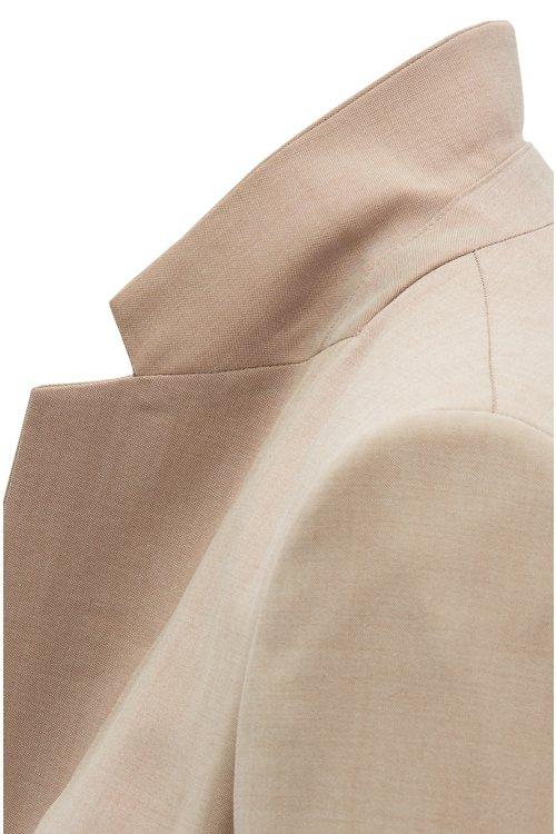 Hugo Boss - Regular-Fit Blazer aus strukturierter Schurwolle mit Sharkskin-Struktur - 3