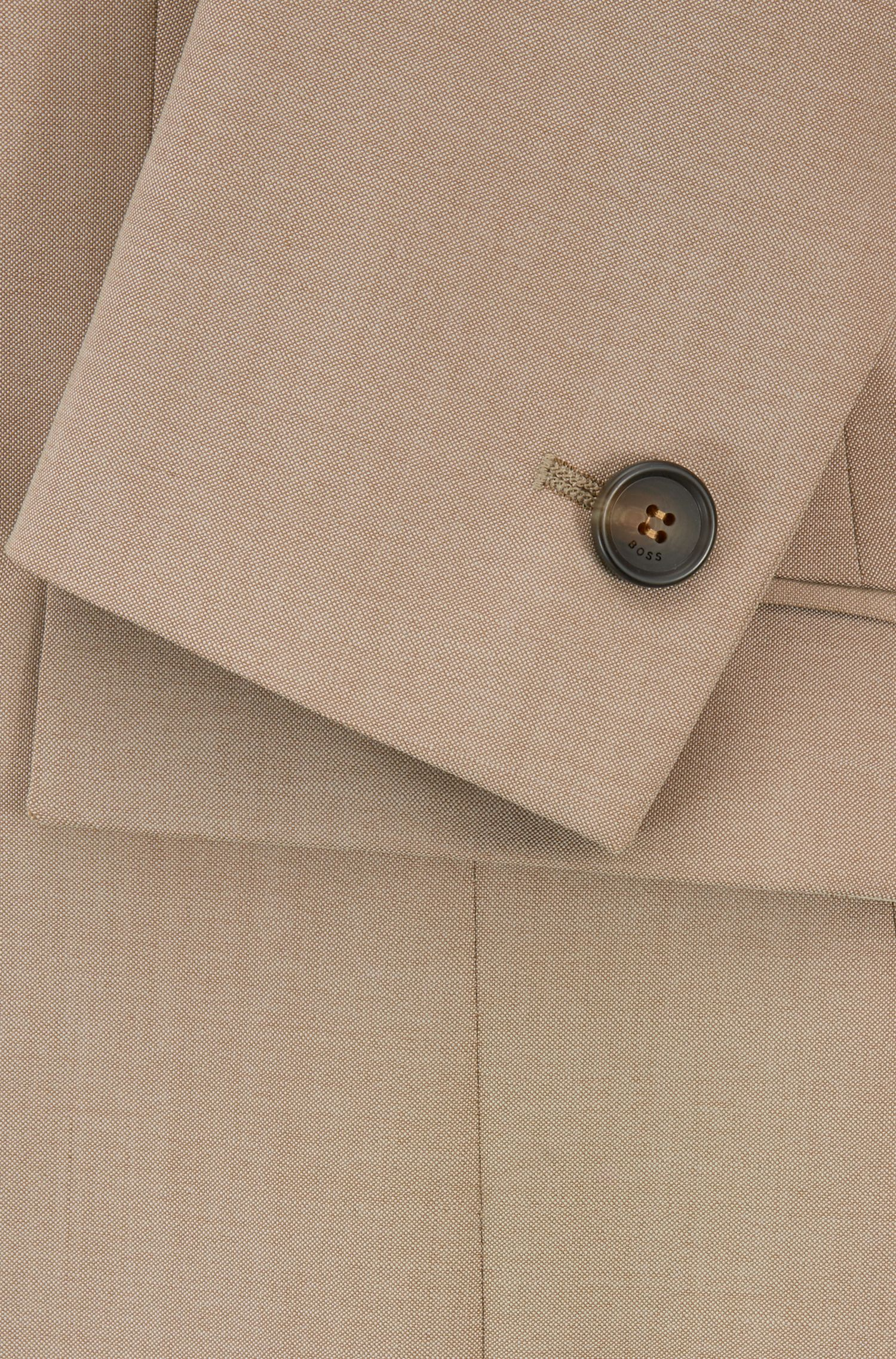 Hugo Boss - Chaqueta regular fit en lana virgen con textura de piel de tiburón - 5