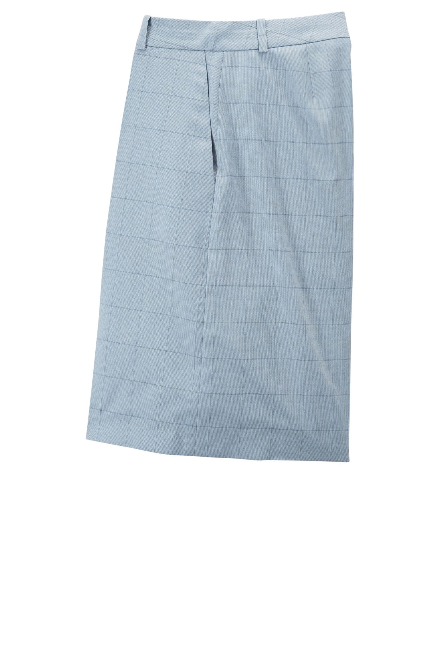 Short Relaxed Fit en laine et soie, Bleu vif