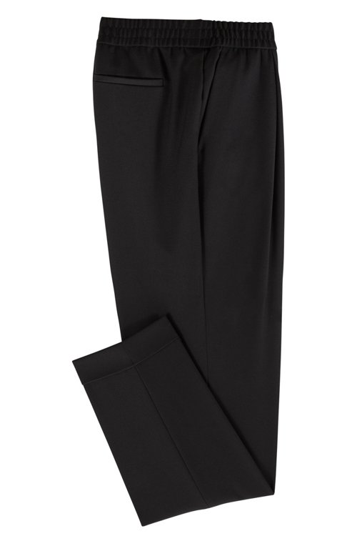 Hugo Boss - Relaxed-fit tailored trousers with elasticated waist - 4
