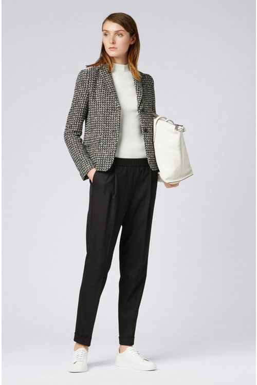 Hugo Boss - Relaxed-fit tailored trousers with elasticated waist - 2