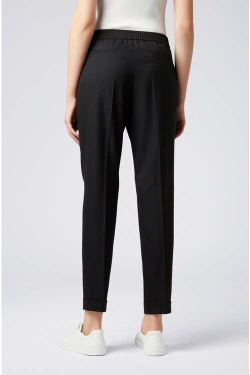 Hugo Boss - Relaxed-fit tailored trousers with elasticated waist - 6