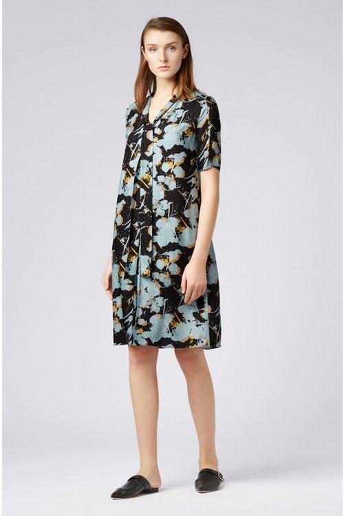 Hugo Boss - Kleid zum Binden mit abstraktem Blumenprint - 2