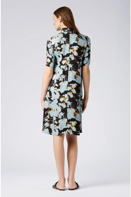 Hugo Boss - Kleid zum Binden mit abstraktem Blumenprint - 4
