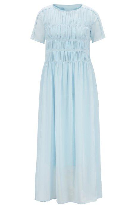 Relaxed-fit jurk van transparante Japanse chiffon, Lichtblauw