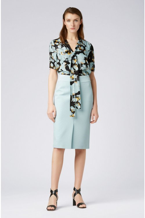 Hugo Boss - Floral-print top with tie neck - 5