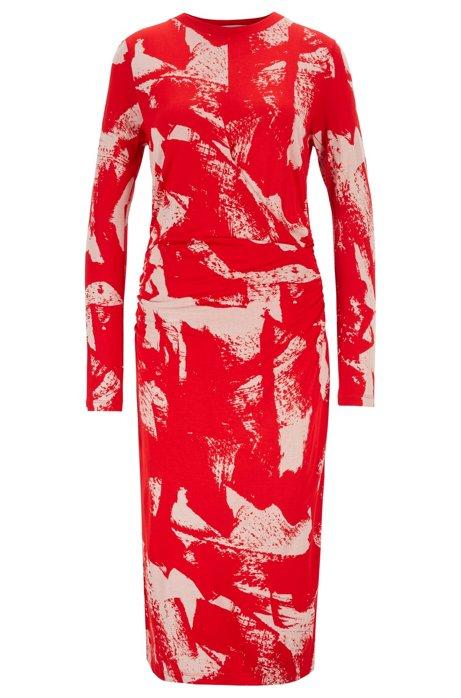 Robe à manches longues, avec taille froncée, Fantaisie