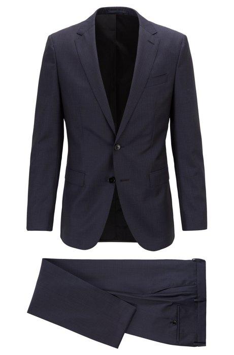 BOSS - Abito con gilet slim fit in lana vergine a disegni b2b8e46f24a