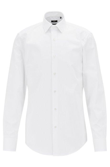 BOSS - Camisa de algodón slim fit de planchado fácil 27e98fb8d61